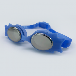 Blue goggle mirror lens with back buckle