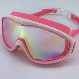 Pink goggle mirror lens with back buckle
