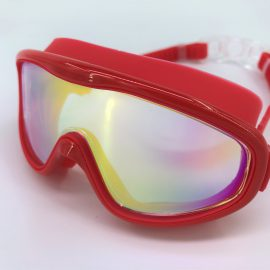 Red goggle mirror lens with back buckle