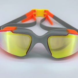 Orange gray goggle with back buckle