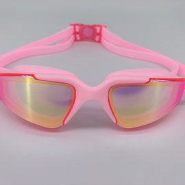 Pink goggle with back buckle