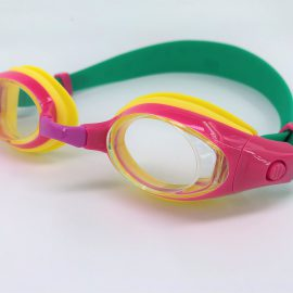 Dark pink Goggle clear lens