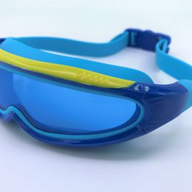 Blue Robots goggle clear lens with back buckle