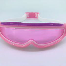 Pink Cobots goggle clear lens with back buckle