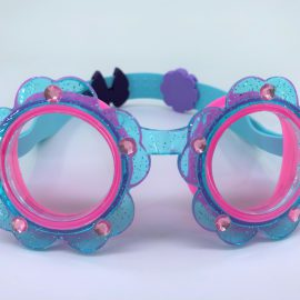 Flower blue pink goggle