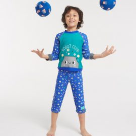 Robot Boy two piece style long sleeve long pant style
