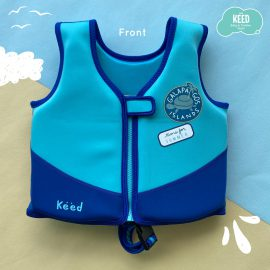 Neoprene Kids Swim Float Suit Blue Shark  (2-8 Y.)